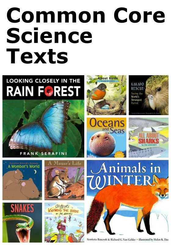 Common Core Science books for kids from Delightful Children's Books.