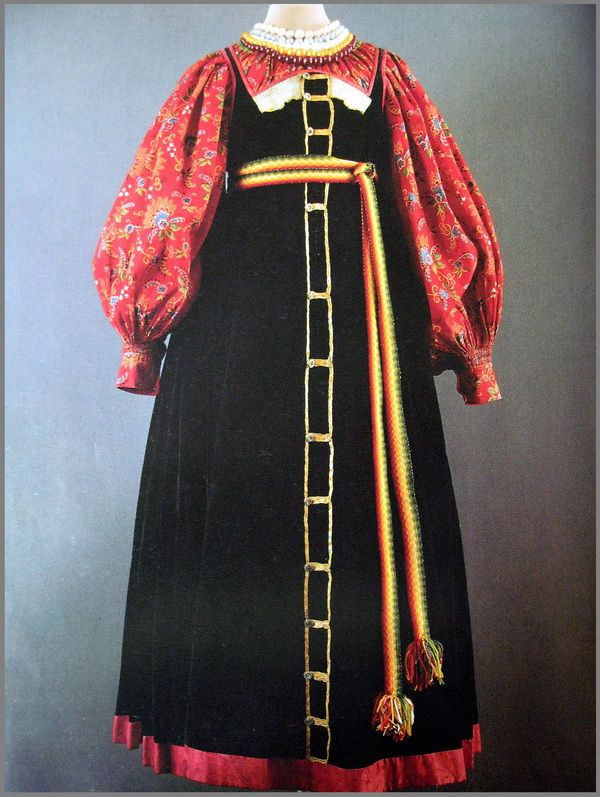 Праздничная одежда. Симбирская губерния. Середина XIX в.