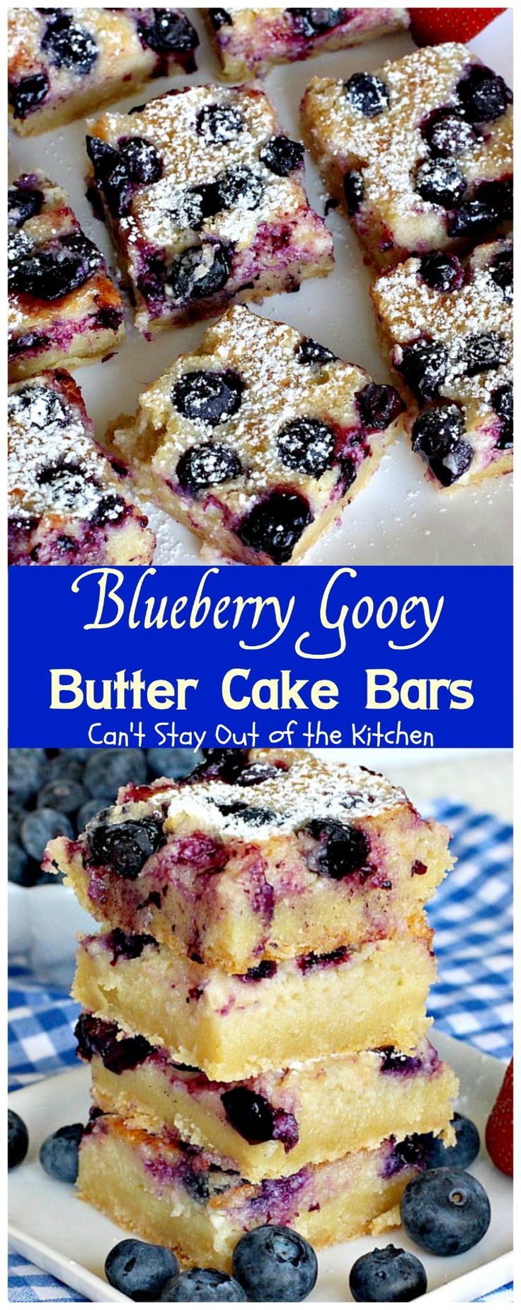 Blueberry Gooey Butter Cake Bars   Can't Stay Out of the Kitchen   you will…