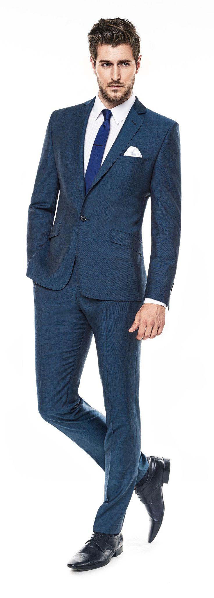 Kolekcja Giacomo Conti 2014 - granatowy garnitur Marcus 2 E14/17B, biała koszula męska Michele 14/04/09. #giacomoconti