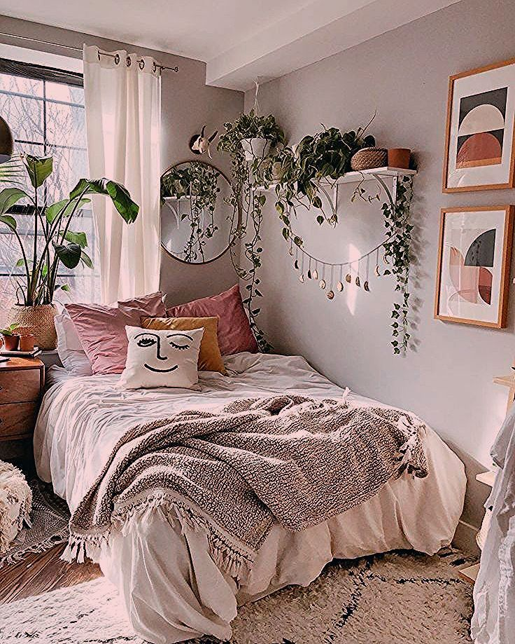 First apartment bohemian bedroom decoration ideas for you ...