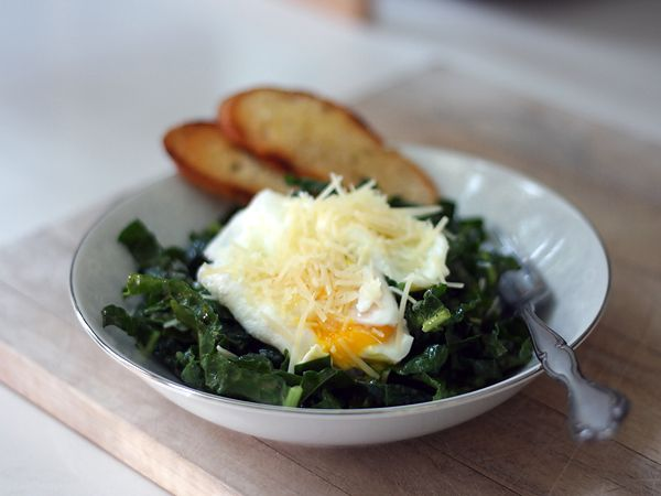 Kale Caesar Salad | Although for grilled cheese, I might have use a w ...