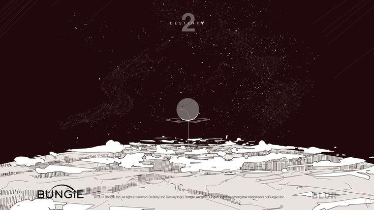 Destiny 2  opening scene's concept art , Marcin Rubinkowski on ArtStation at https://www.artstation.com/artwork/8GNvx