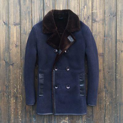 2015 зима новый овчины бизнес мотоцикл мужской ветровка пальто большой двор 1322 купить на AliExpress