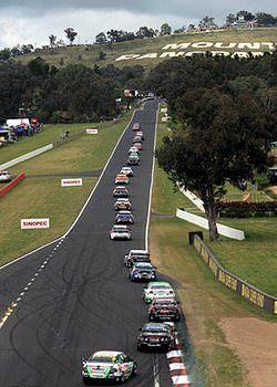 Mount panorama racing circuit in Bathurst Australia