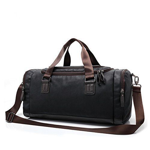 Top Duffel Bag Travel Luggage Leather Mens Womens Tote Sports Weekend Gift NEW #DuffelBagTravel #DuffleGymBag