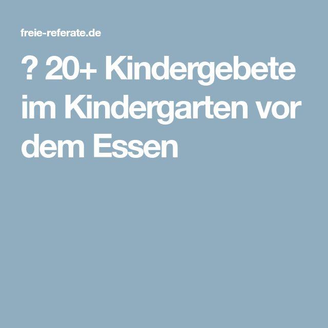≫ 20+ Kindergebete im Kindergarten vor dem Essen