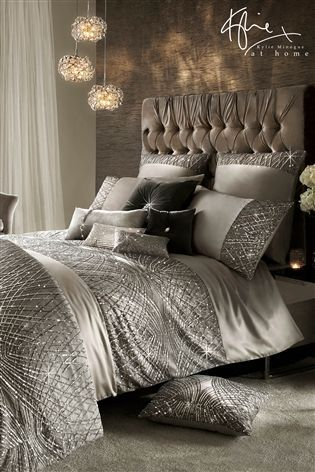 Buy Kylie Esta Silver Duvet Cover from the Next UK online shop