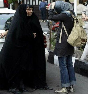 "Iran Macho feminists, here's your ""war on women"" The veil of invisibility"