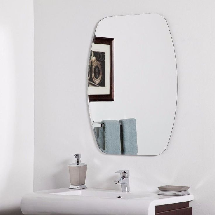 Modern Wall Mount Frameless Mirror Unique Living Room Decor