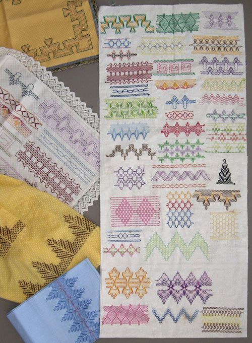 Antique Swedish Weave Sampler