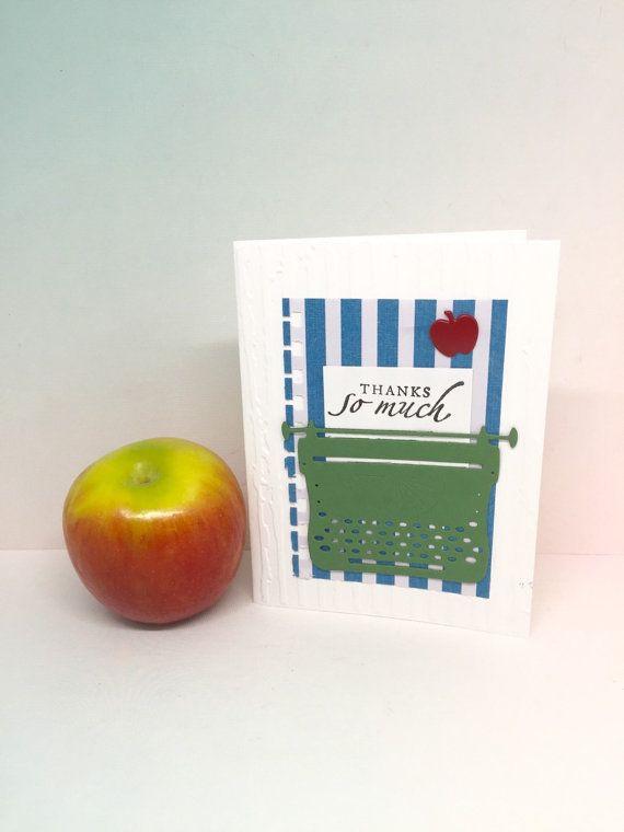 Teacher Thank You Card  Thank You Teacher  by byLisaCardsCrafts  $4.99  https://www.etsy.com/listing/271898842/teacher-thank-you-card-thank-you-teacher