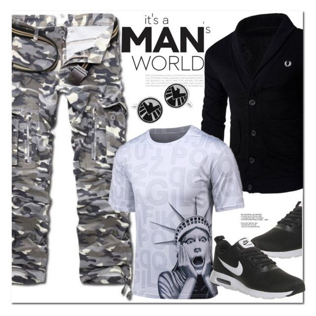 """""""It's a Man World"""" by oshint ❤ liked on Polyvore featuring NIKE"""