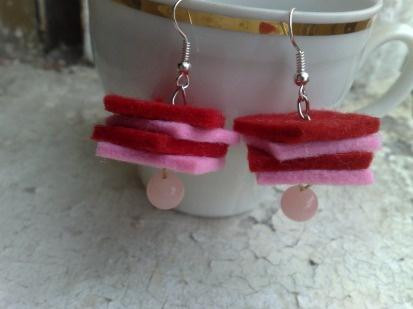 ,: Earrings, Felt, Jewelry