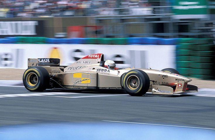 Martin Brundle (Benson & Hedges Total Jordan Peugeot), Jordan 196 - Peugeot A12 EV5 3.0 V10,  1996 French Grand Prix, Circuit de Nevers Magny-Cours
