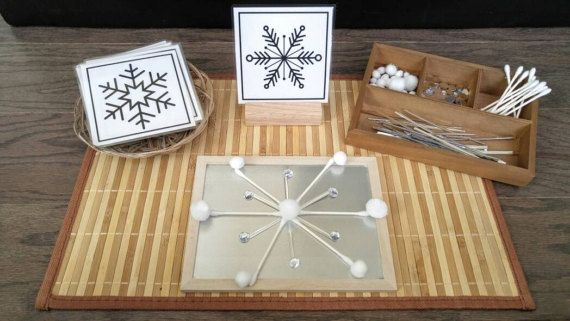 Loose Parts Snowflake Exploration Build a Snowflake Fine