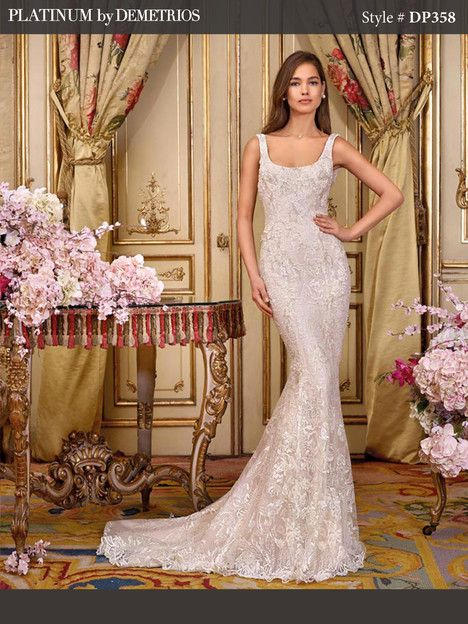 DP358 (2) gown from the 2018 Platinum by Demetrios collection, as seen on dressfinder.ca