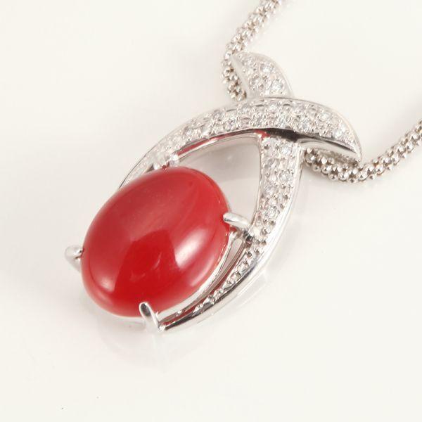 【GINZA PARIS】K18WG 红珊瑚 项链/228,000日元