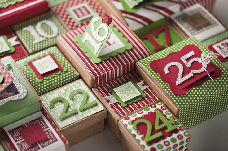 advent calendar boxes using peekaboo frames holidays. Black Bedroom Furniture Sets. Home Design Ideas