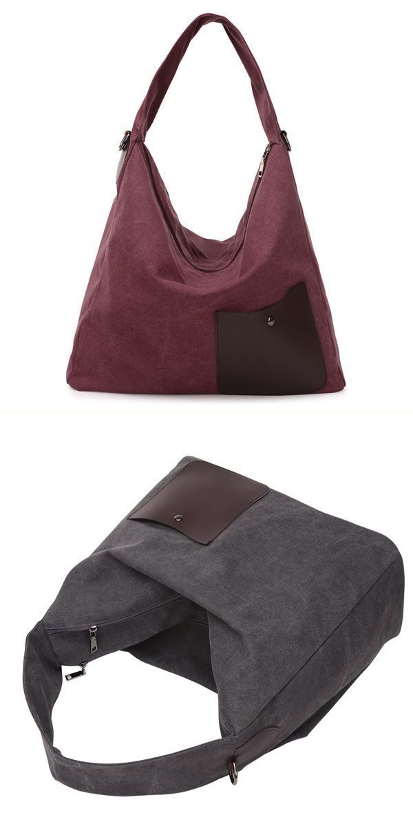 Women Canvas Casual Shoulder Bag Vintage Leather Front Pocket Handbags Under 50 Courage
