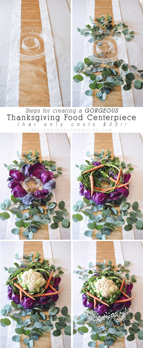 Step by step instructions for creating a Thanksgiving Food Centerpiece! Delineateyourdwelling.com