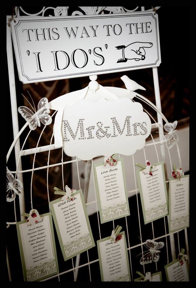 Birdcage Style Table plan, available for hire.