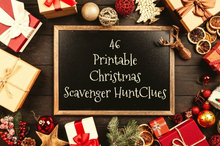 70 Printable Christmas scavenger hunt clues Between Us