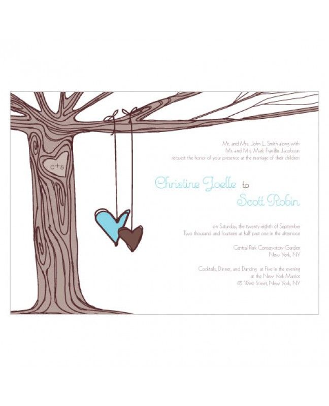 Heart Strings Wedding Invitations www.mybridalsupply.com