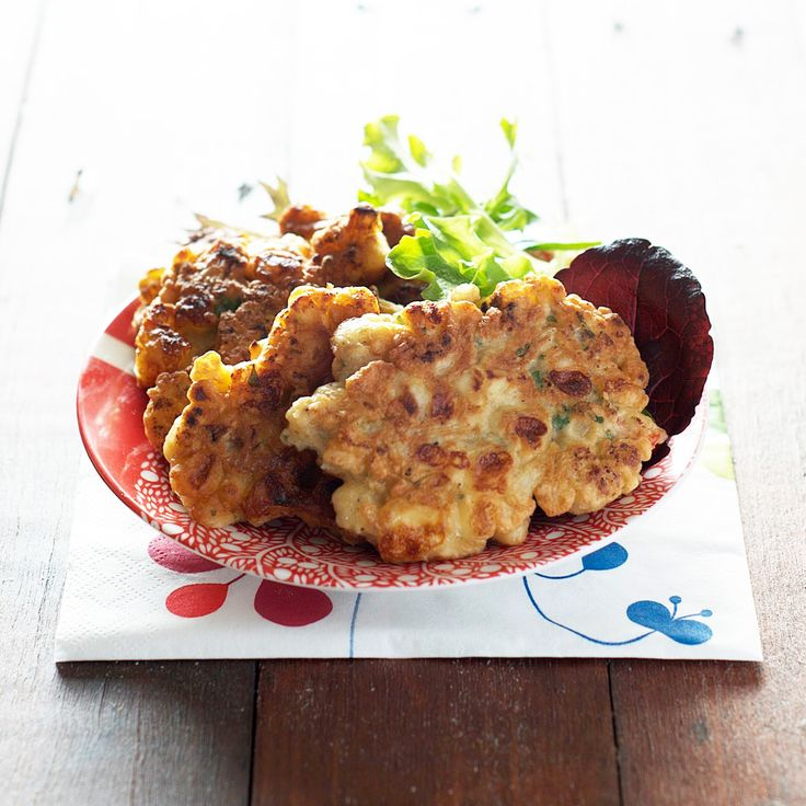 Roasted Cauliflower and Provolone Fritters *these were delicious--I ...