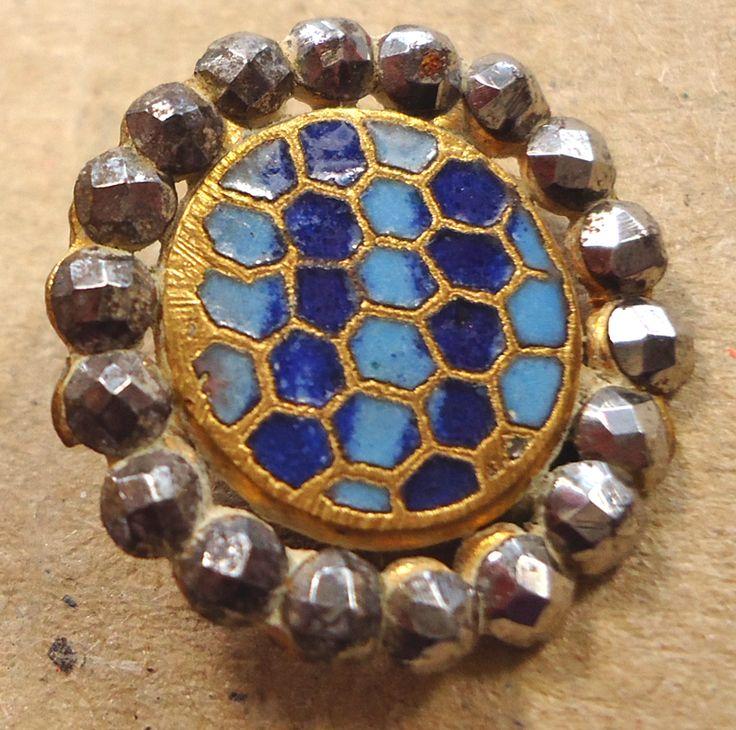 ME576 - Blue honeycomb enamel, cut steel rim