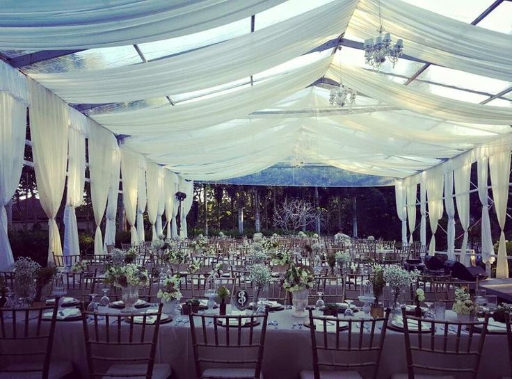 Elegant Tents for Garden Weddings (39ft. x 41ft.) seating capacity 150 guests styled by Badang Rueda @ Hillcreek Gardens Tagaytay  Photo credits: Hillcreek Gardens