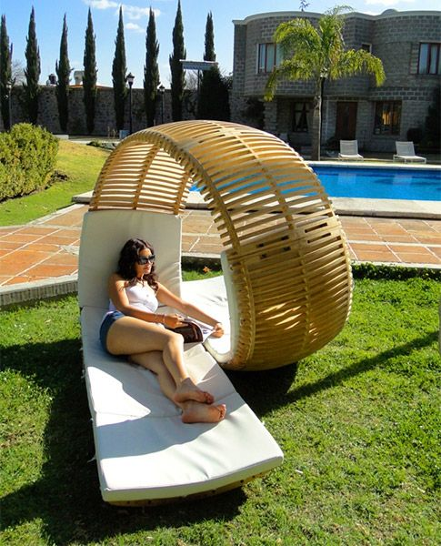 Two-person lounge chair...cool idea!