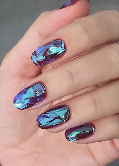 The latest trend in nail art is here — and it's about to shatter your world