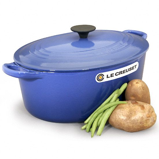 I cook everything in this!  For several months it was the only pot I had!!  These dutch ovens cook evenly, go from stove top to oven, come in great fun colors, and are easy to clean!  I have two sizes in the blue and love them!Lecreuset, Cast Iron Cookware, Cookware Fancy, Dutch Ovens, Crucible, Cooking Tools, Image, Creuset Dutch, Christmas Ideas