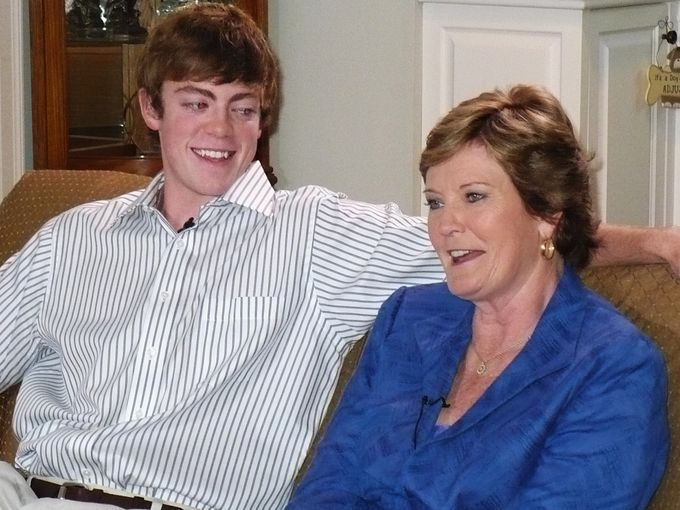 Pat Summitt at her announcement that she has early
