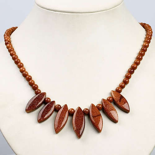 'Goldstone/Sun Sitara Necklace ' is going up for auction at  3pm Fri, Dec 21 with a starting bid of $12.