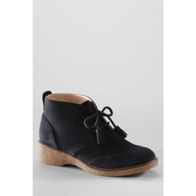 Lands End Women's Chalet Wingtip Chukka Boots - Black