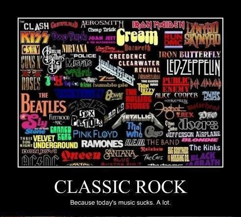 Classic Rock Band Name Logos collage