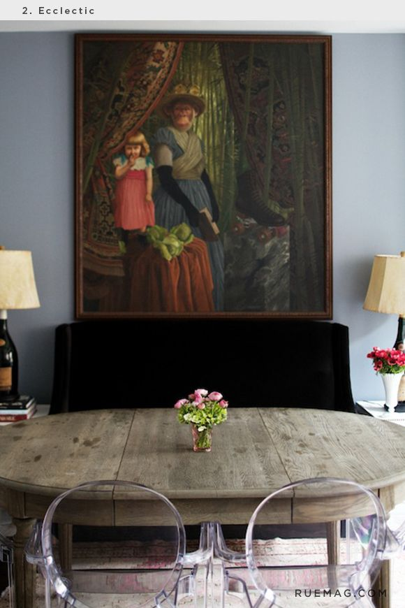 A Fabulous Mixture Off Contrasting Styles And Periods True Eclectic Styling