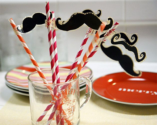 How-To: Moustaches on a Straw