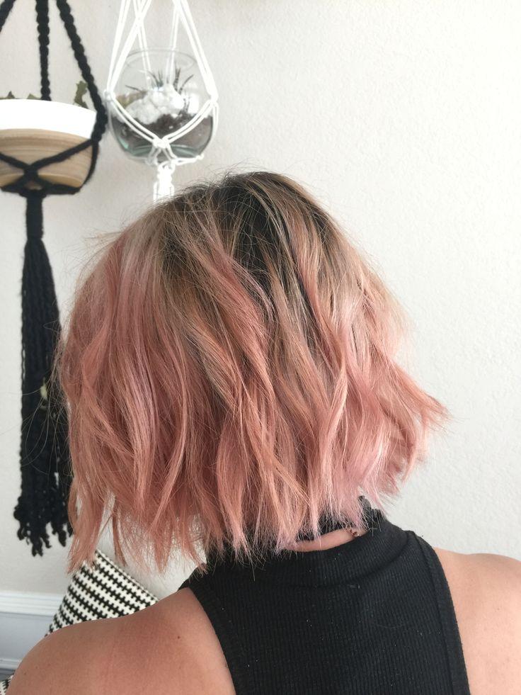 Pink pastel short hair
