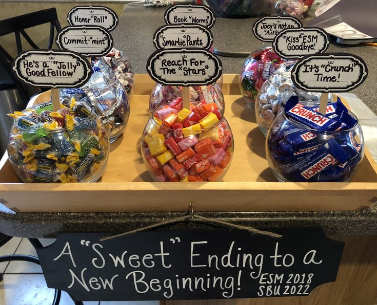 """High School Graduation Party Mini Candy Bar!   ~A """"Sweet"""" Ending to a New Be…"""