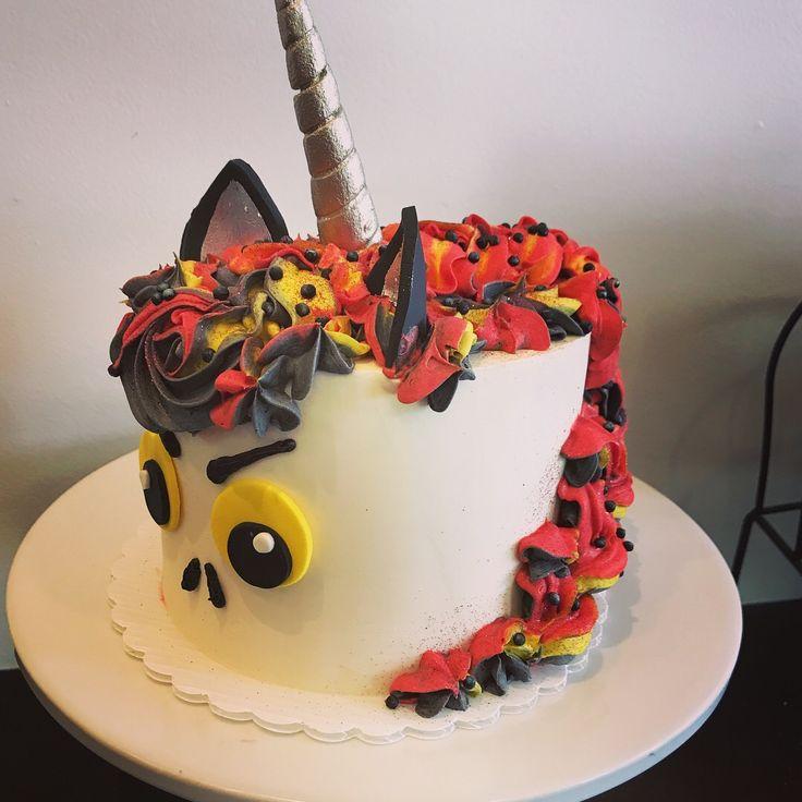Game of Thrones inspired unicorn cake