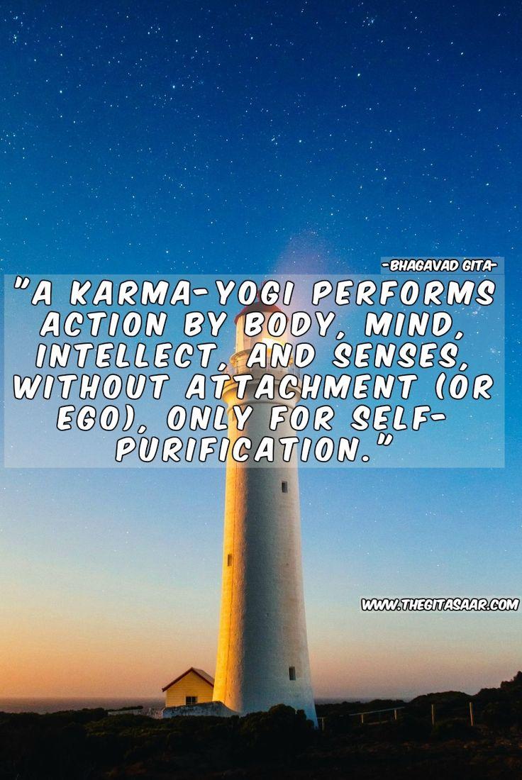 """A Karma-yogi perfomes action by body,mind, intellect, and sense, without attachemnt (or ego), only for sefl - purification. #radhe #krishna #jaya #likes #nitai #flute #matki #hare #govind #gopal #laddugopal #laddu #selfie #devotee #iskcon #forever #love #insta #bhagavadgita #bgquotes #bhagwat #gita #mahabharat #bg #dailyquote #gitaquote #Bhagavad #Gita #Gitasaar #Sanskrit Shlokas  #Krishna #Arjuna #Hare Krishna #sanskrit #bhagavat #bhagavad  #bhagwat gita www.thegitasaar.com"