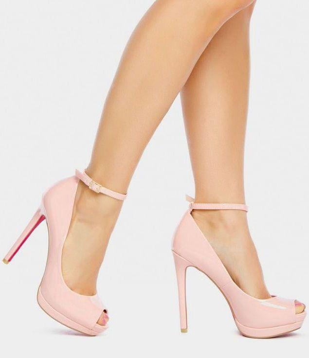 Blush Ankle-Strap Pumps ♥