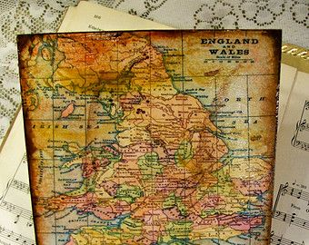 21 best old world maps images on pinterest vintage maps antique historical map trivet old world england and wales map antiqued serving tray 6x6 gumiabroncs