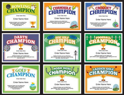 Champion Certificates Templates | Award Certificates ...