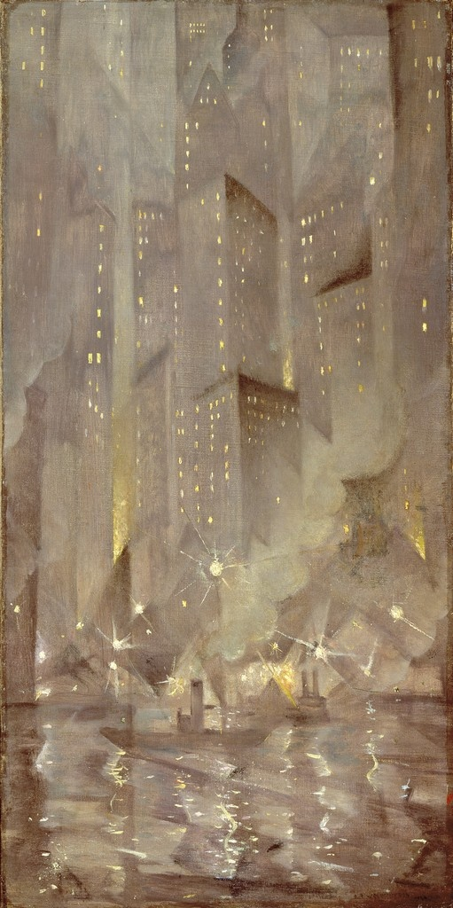 Christopher Nevinson: New York by Night, 1920.