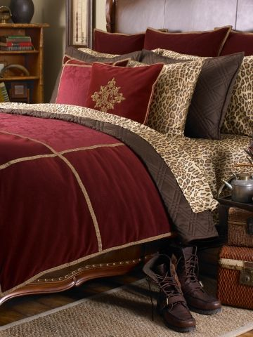 Ralph Lauren - Venetian Court Bed Collection.     The leopard bedsheets are SOOO comfy and delicious ♥