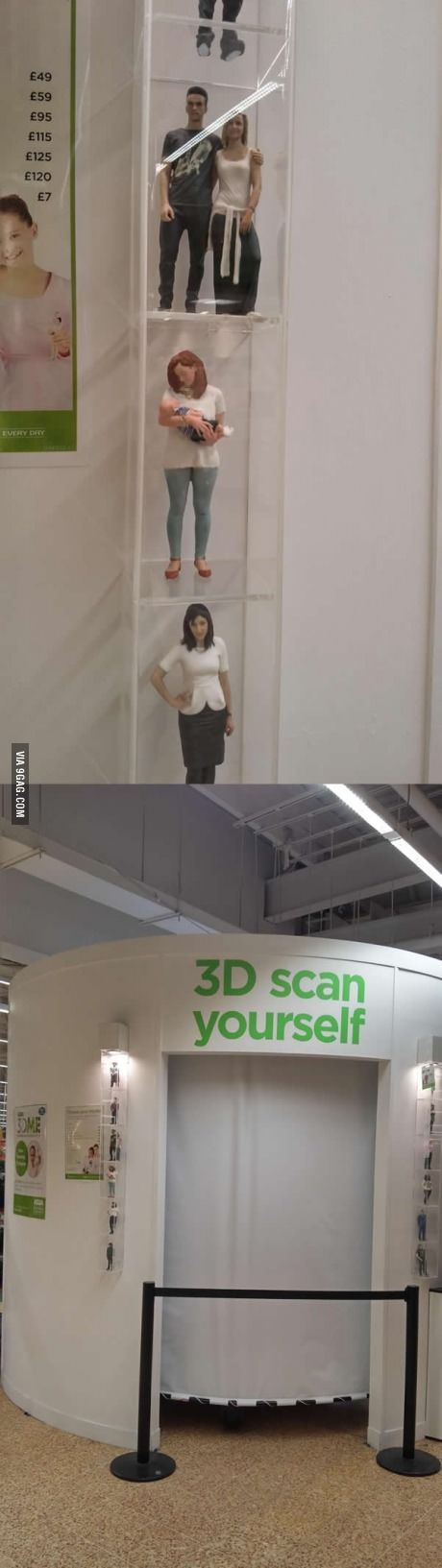The supermarket near me has machines where you can make a 3d printed model of yourself
